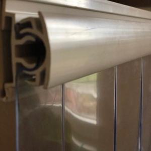 Műanyag felfüggesztésű termofüggöny